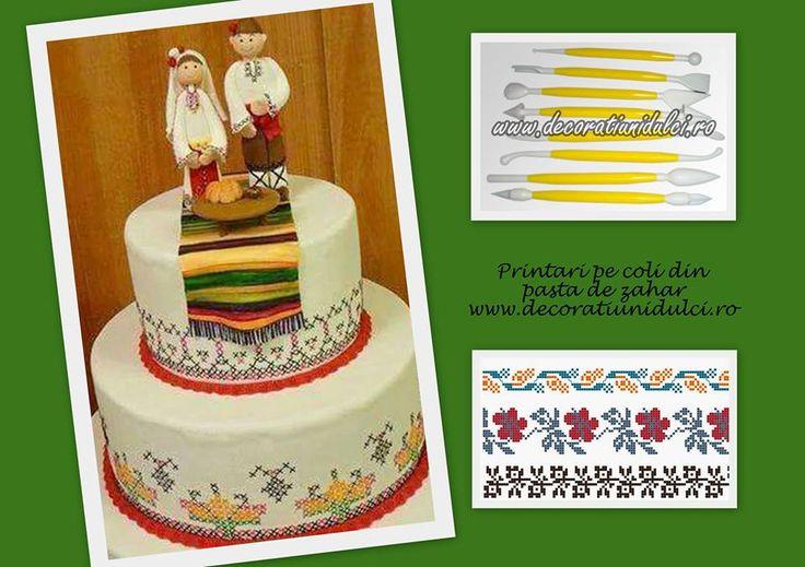 Un tort cu motive populare inspirat de peste granite ... foarte apropiat de Moldova noastra. #ustensilemodelaj  https://decoratiunidulci.ro/diferite-ustensile #printuripefoicomestibile https://decoratiunidulci.ro/folcloric  SURSA: https://www.facebook.com/kulinarnivkusotiiki/photos/a.805471739483008.1073741827.805440359486146/982351838461663/?type=3&permPage=1