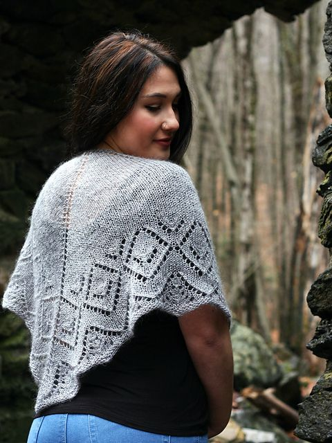 This soft and sparkling shawlette will knit up In a Twinkling on size US 8 needles. Warm up with stockinette, and then work up a striking diamond lace pattern with both written and charted instructions, perfect for new-to-lace and seasoned lace knitters alike. The best part? You need only one skein of luxurious Wonderland Yarns Unicorn to complete the piece.