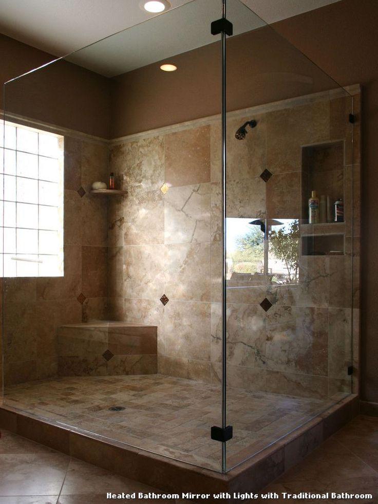 Heated Bathroom Mirror With Lights