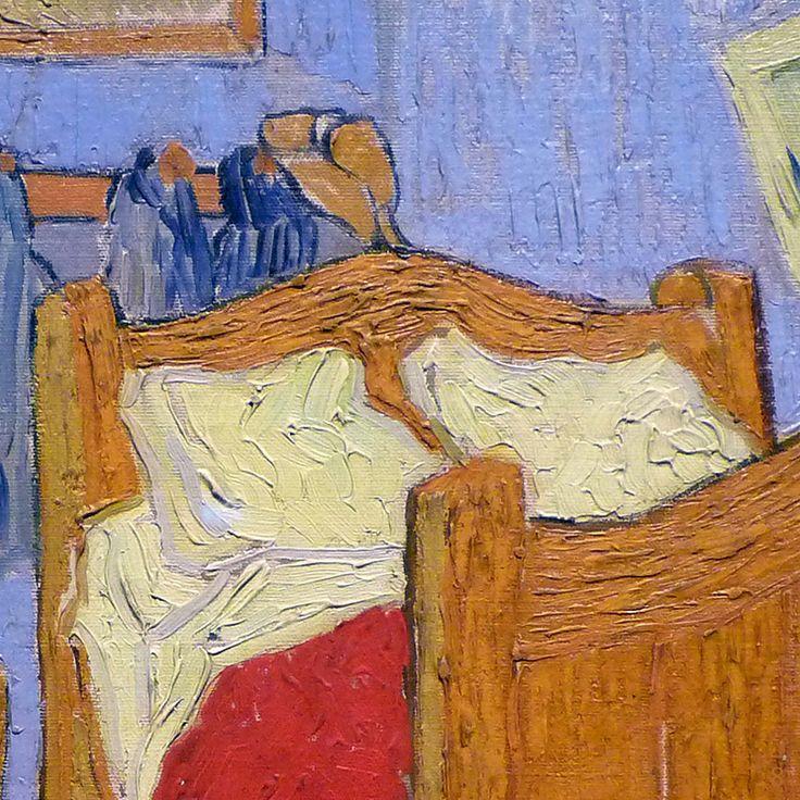 Particolare della camera da letto ad Arles di Vincent Van Gogh