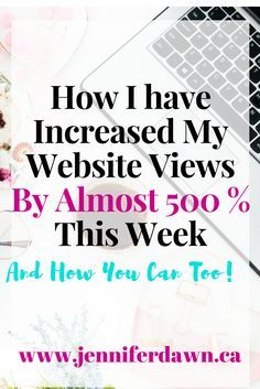 Find out EXACTLY How I have grown my website views this week