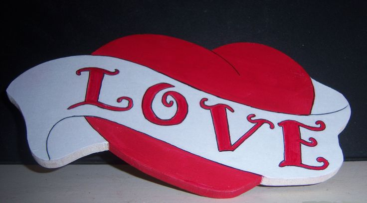 3D Love Silhouette Wall hung plaque  €9.00 + €5 p+p