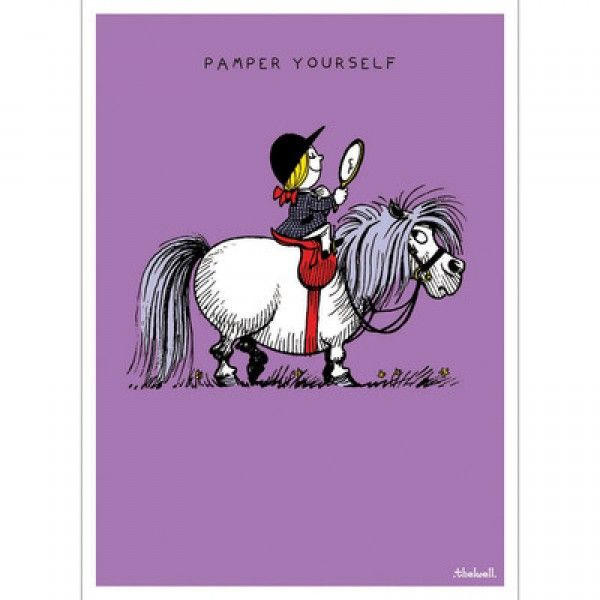 Thelwell Birthday Card - Pampered - Stationery