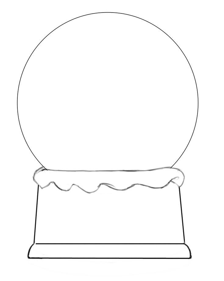 blank snow globes | Snow Globe Template