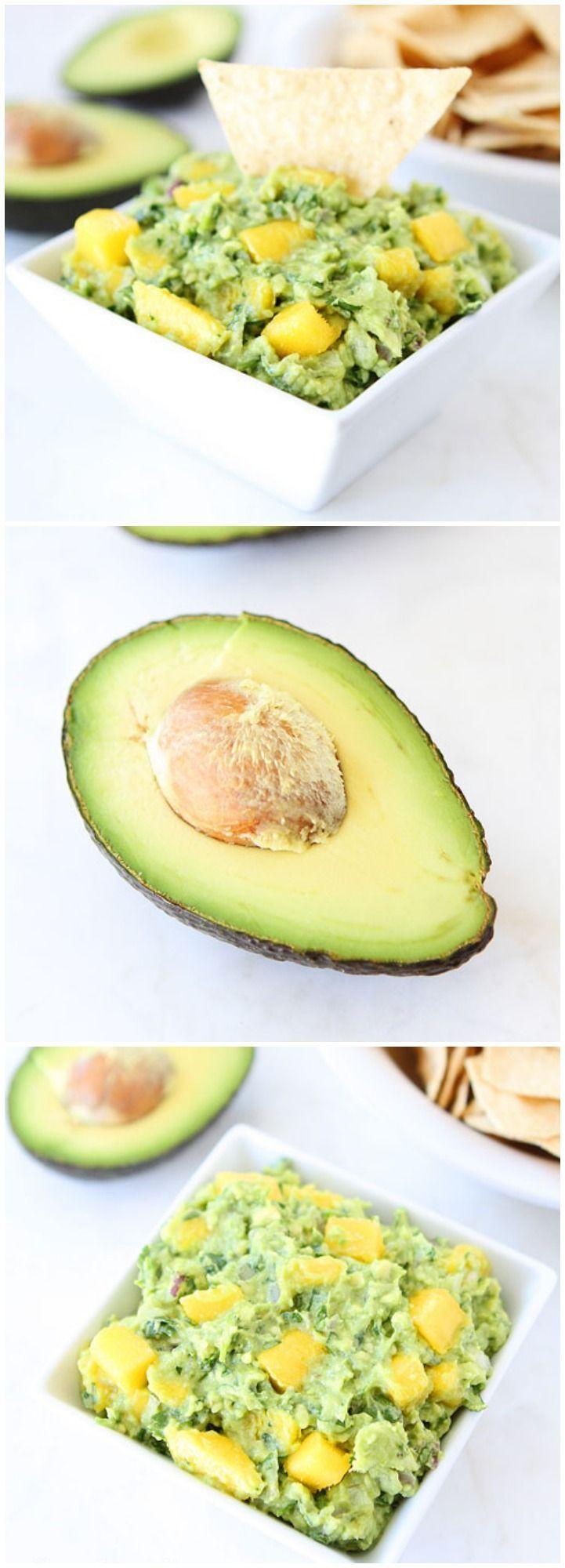 Guacamole de mango y cilantro.