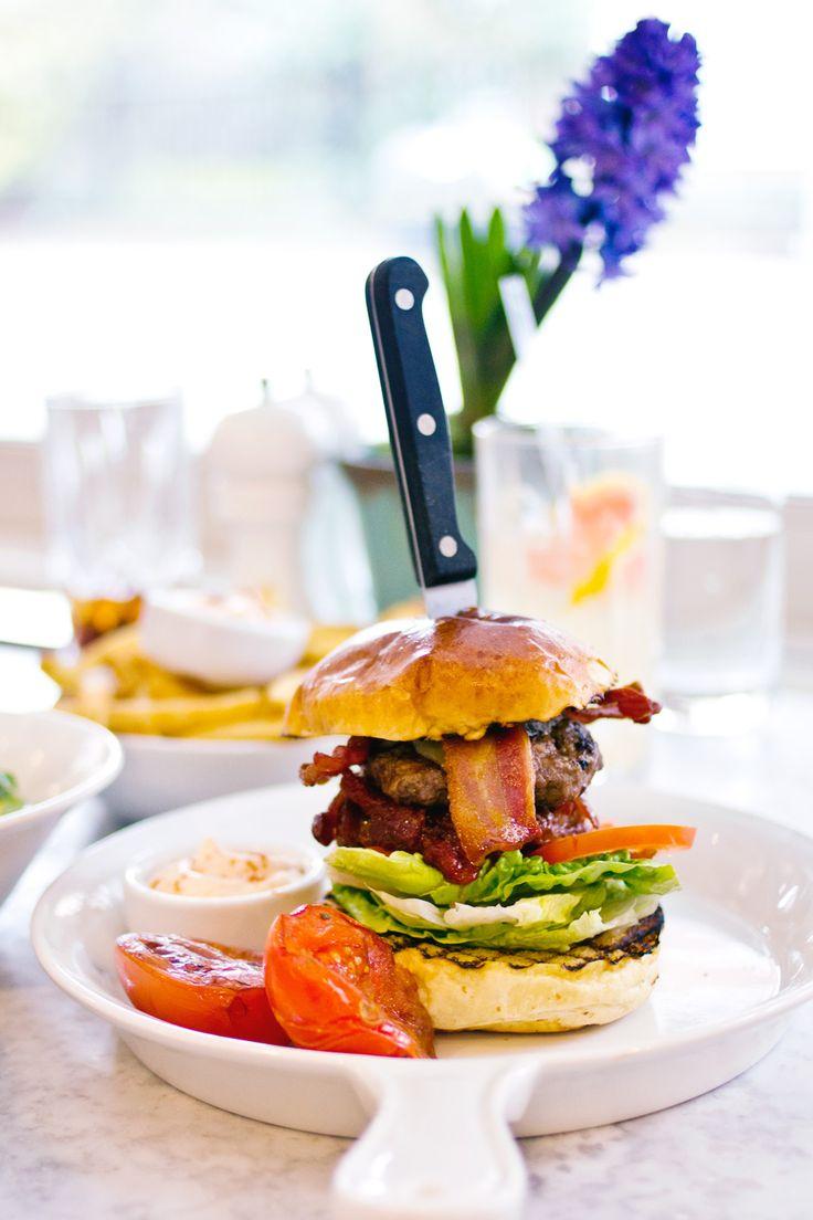 brioche bun burger london bacon knife #edibleart