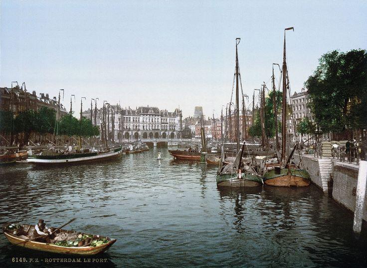 Het totaal andere Rotterdam van voor WO II | EnDanDit Rijnhaven, waaraan tegenwoordig het nieuwe Luxortheater ligt: