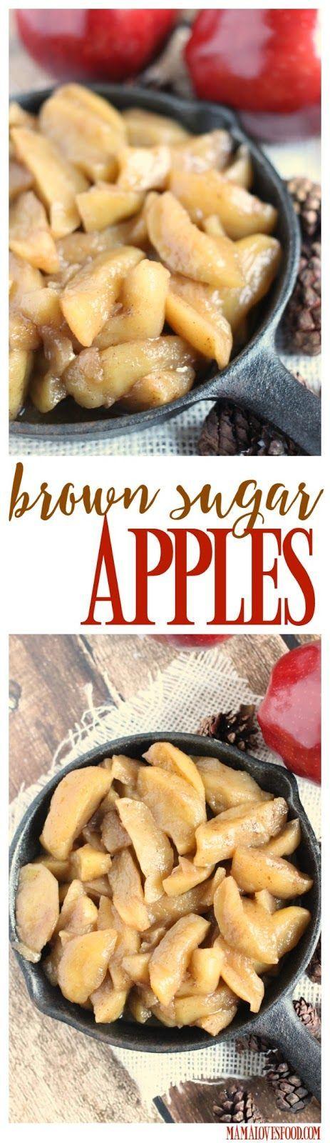 Brown Sugar Cinnamon Skillet Apples - this recipe is even better than Cracker Barrel's Fried Apples!