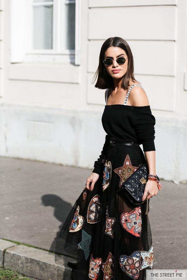Camila Coelho Outside Dior / Paris Fashion Week SS18