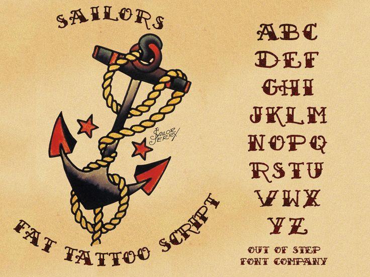 Sailor's Fat Tattoo Script Font · 1001 Fonts | Fonts ...