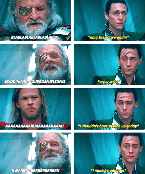 Thor | 21 Movies Summed Up In One Photo Set. OH DEAR LORD CLICK THIS! I JUST ABOUT DIED WHEN I SAW THE DARK WORLD!