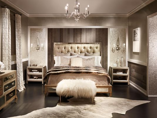 Rustic glamour bedroom google search interior design - Interior design for living room and bedroom ...
