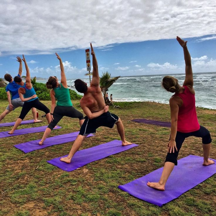Find us in Kapa'a behind the Beach House Hostel on the grassy area between palm trees. Blissful Yoga classes held during sunset on Kauai. Breathe in the fresh air, gaze into the horizon, hear the relaxing waves of the ocean, feeling your body grounding into the Earth. Relax in Savasana looking up