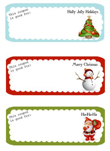 Christmas Gift Coupon Template | Although we'd most likely do most of these things anyway. I think ...