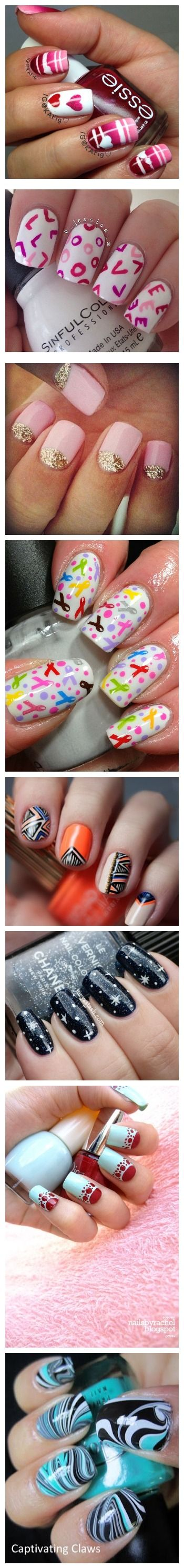 Nail Art Ideas and Designs...love this idea..pretty!!!