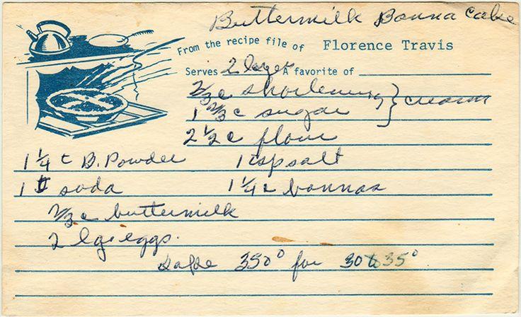 A 1950s recipe.