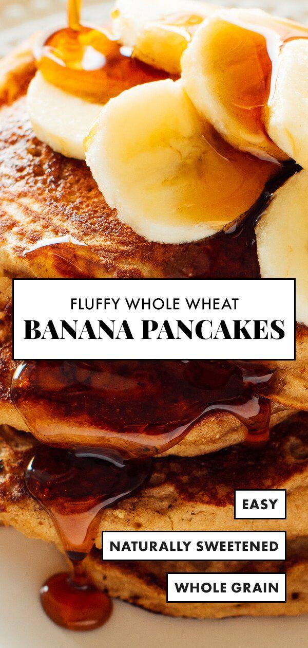 Whole Wheat Banana Pancakes Recipe Cookie And Kate Recipe Wheat Banana Banana Pancakes Recipe Banana Pancakes