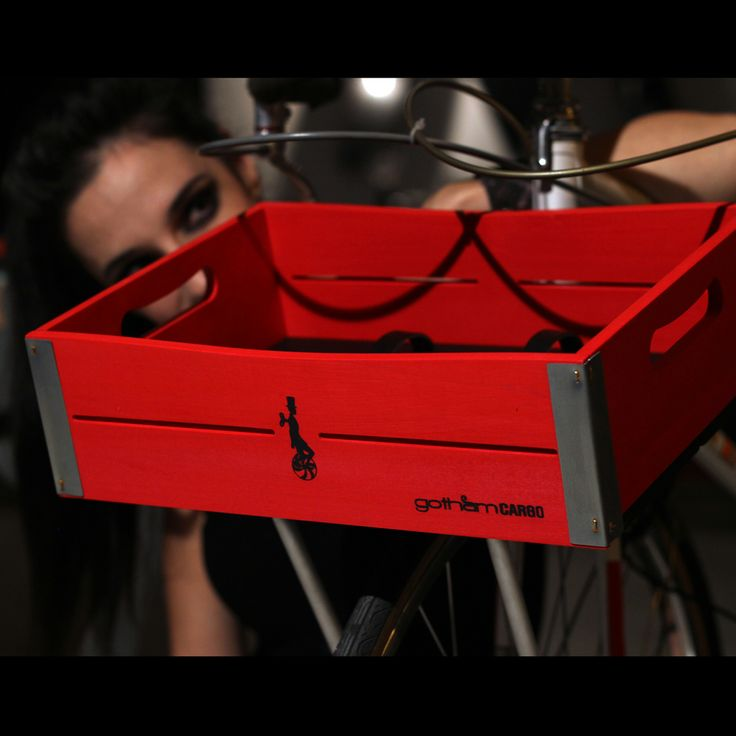 Red&Black bicycle basket