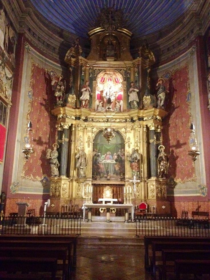 www.rentavillamallorca.com Church interior, Pollensa, Mallorca #holidayinpollensa, #holidayinmallorca
