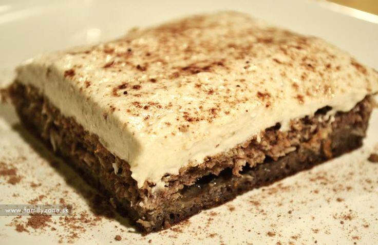 Kakaový rez s tvarohom – fitnes recept
