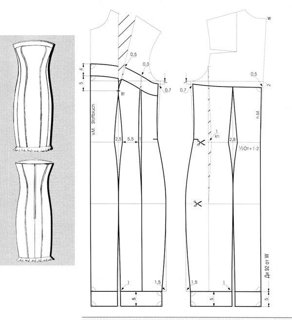 Pattern dresses./Выкройка  платья.