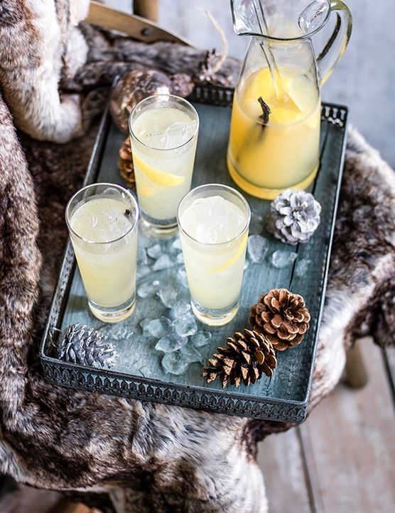 Chilled, mulled elderflower wine - Try a frosty twist on a classic with this chilled, mulled elderflower wine. Sweet vanilla pods, cloudy apple juice and elderflower cordial simmer with fresh lemon juice for a frosty infusion.