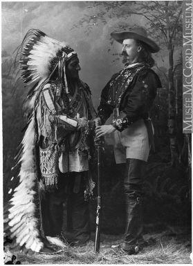 Сидящий Бык и Баффало Билл, Montreal, QC, 1885. Photograph Wm. Notman & Son