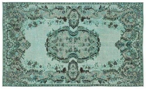 nice blue color vintage rug.