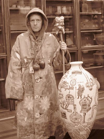 """I think of my robes as partly the uniform of an ancient craftsman's guild and partly the ritual garment of a shamanic encounter from the contemporary art tribe"" - Grayson Perry"