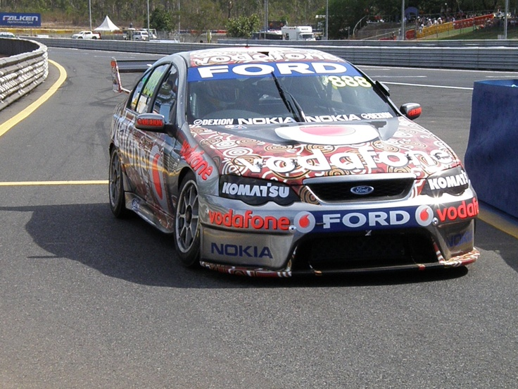A special Northern Territory paint job for the Hidden Valley round in 2008
