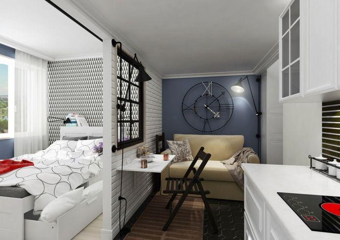 Дизайн маленьких квартиры-студии 25 кв. м.