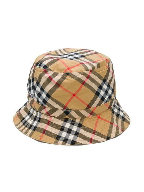 e99ffd28d95 Burberry Kids House Check bucket hat  140 - Buy Online - Mobile Friendly