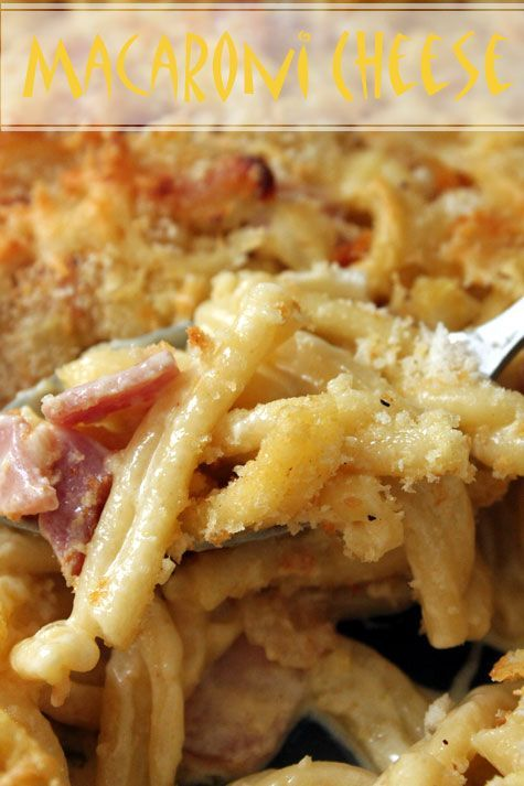 Macaroni & Cheese with Bacon | Noodle and Pasta | Pinterest