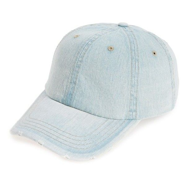 Women's Fantasia Accessories Washed Denim Baseball Cap (58 ILS) ❤ liked on Polyvore featuring accessories, hats, lt denim, ball cap, denim baseball hat, 6 panel hat, 6 panel baseball cap and denim hats