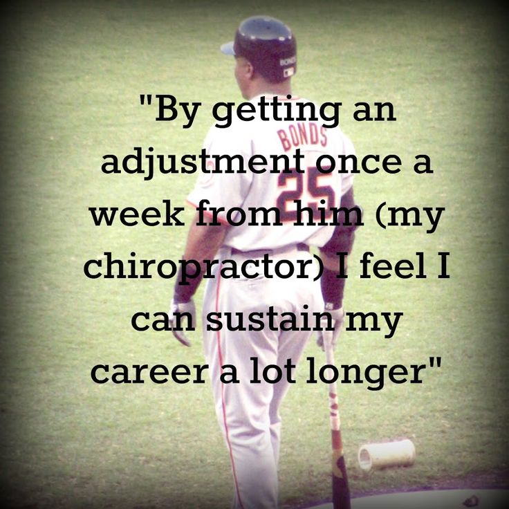 """""""By getting an adjustment once a week from him ( my chiropractor) feel I can sustain my career a lot longer."""" Barry Bonds, MLB http://chiropractoralbuquerque-thejoint.com/introductory-offer/?utm_source=Pinterest.com"""
