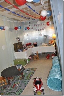 how to turn a garage into a party room