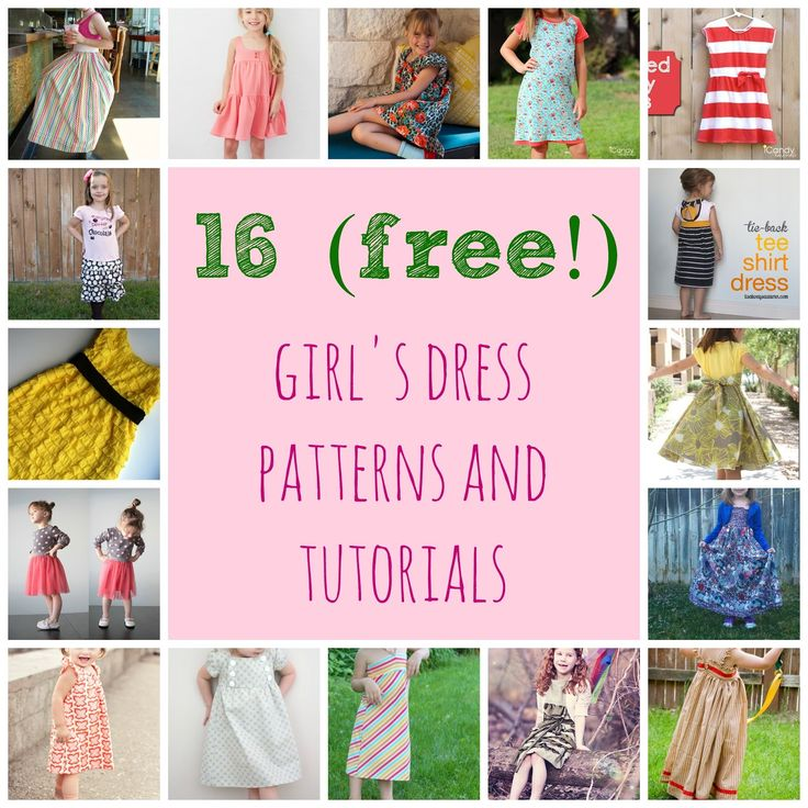 16 (free!) girls dress patterns and tutorials
