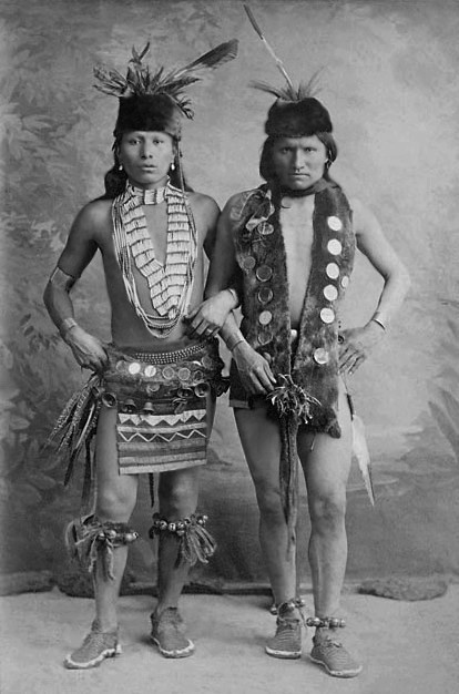 Photo: Black Elk and Elk -  Black Elk was involved in several battles with the U.S. cavalry. He participated, at about the age of twelve, in the Battle of Little Big Horn of 1876, and was injured in the Wounded Knee Massacre. He became a Medicine Man of the Oglala Sioux.