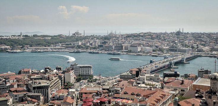 Looking over the Bosphorus, Istanbul, Turkey