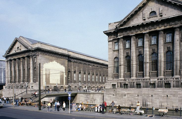 With its austere, archaizing architecture, the Pergamon museum is the brilliant conclusion of the often diverging, but ultimately consistent architectural development of the island. Description from stadtentwicklung.berlin.de. I searched for this on bing.com/images