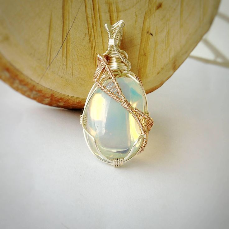 Opalite, a synthetic opal, looks similar to some Ethiopian opals and is often sold as such. As it is an opal variation, it is one of October's birthstones.