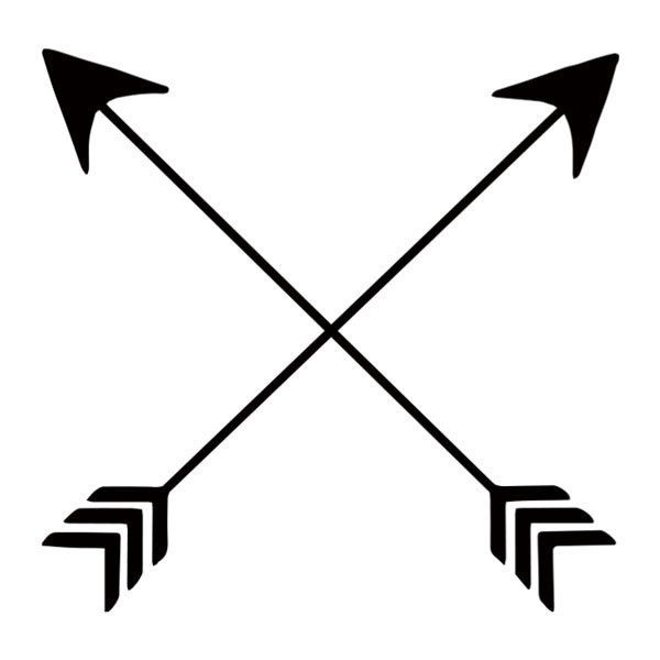 "Did you know that crossed arrows are a Native American symbol for friendship? Well now you do! Black temporary tattoo. Sheet Size: 2"" x 2"" - Lasts 5-7 days even with swimming and bathing! - Easy to pu"
