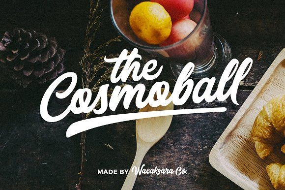 Cosmoball Font by Wacaksara Co. on @creativemarket