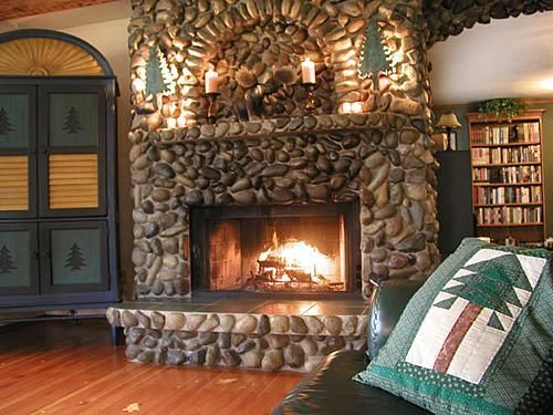 River Stone Fireplace 199 best rock on! images on pinterest   stone, fireplace ideas and