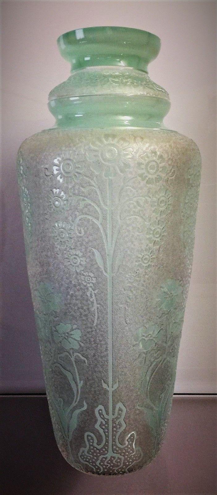 1286 best crystalglass vases images on pinterest glass vase val saint lambert vase en cristal vert deau souffl et travaill floridaeventfo Image collections