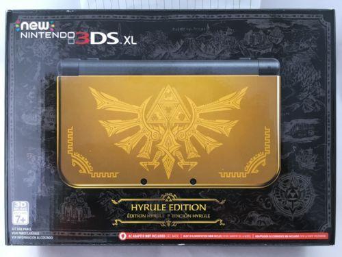 Edição de Colecionador - Todas as edições de Zelda - Collector's Edition Limited Design - 3ds hyrule edition