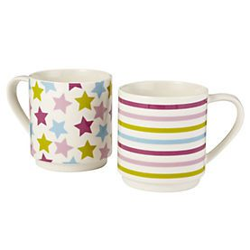 Tu Stars and Stripes 2-mug Stack