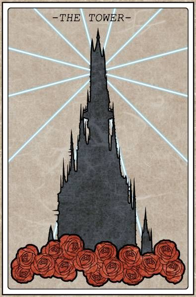 WALTERS TAROT CARD - THE TOWER as it appears in The Dark Tower