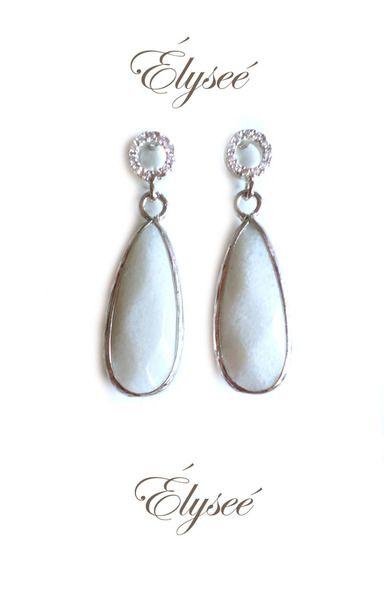Jade - ***WHITE OPAL*** Ohrringe Silber - ein Designerstück von ELYSEEPARIS bei DaWanda