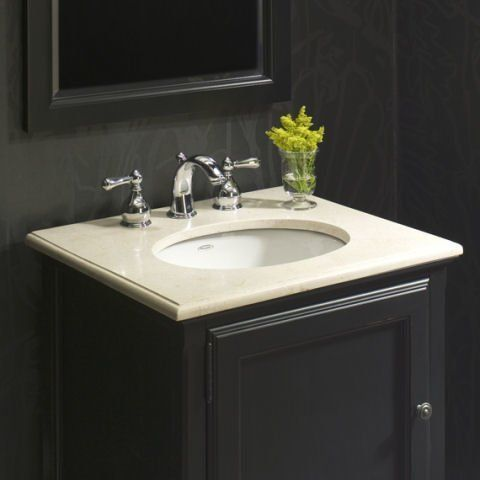 Ovalyn Ceramic Oval Undermount Bathroom Sink with Overflow